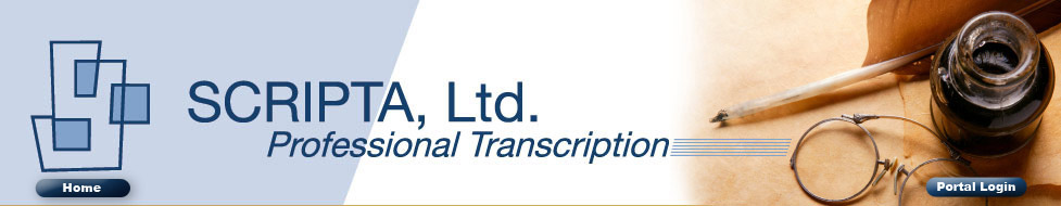 Scripta, LTD: Professional Transcription